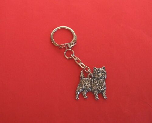Cairn Terrier Keyring Charm  Dog Vet Mum Dad Christmas Gift Free Pouch NEW