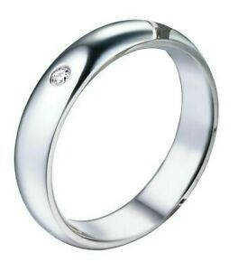 Fede-Fedina-Argento-925-Anello-Uomo-Donna-Fidanzamento-solitario-brillantino