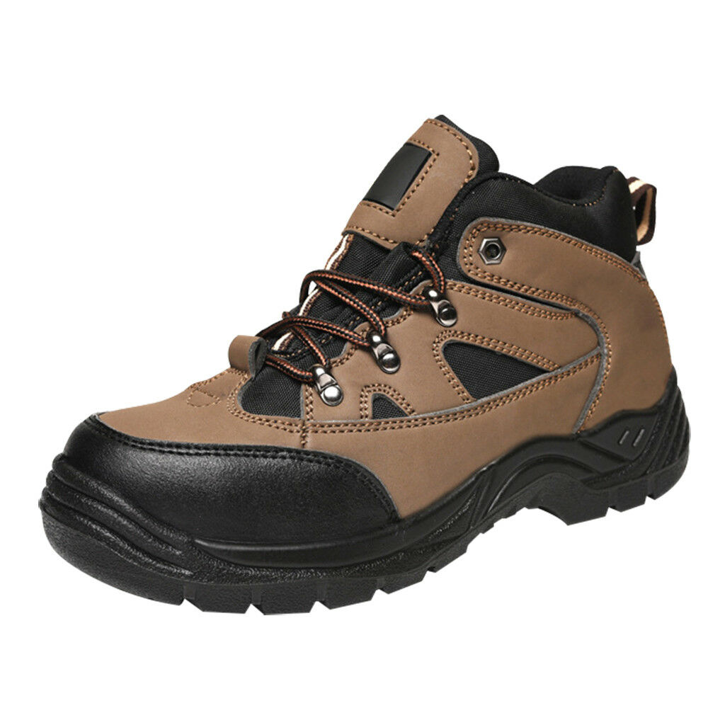 ASG Men's Safety Work shoes Leather Working Trainers Steel Toe Cap Hiking Boots