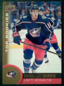 PIERRE-LUC-DUBOIS-17-18-AUTHENTIC-NHL-TOP-ROOKIES-GOLD-CARD-SP