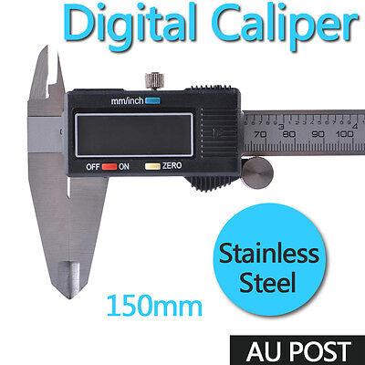 150mm 6'' Digital Electronic Vernier Caliper Gauge Micrometer Set With Case AUS