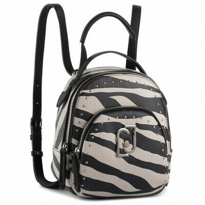 BORSA LIU JO ZAINO PICCOLO A69140 CREATIVA BACKPACK S NERO BIANCO WHITE ZEBRA | eBay