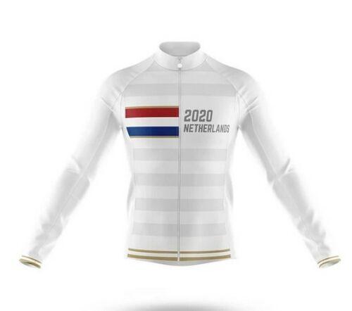 Netherlands 2020 Novelty Cycling Jersey Long Sleeve