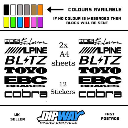 12 Car Door Stack Sponsor Logo Stickers,Graphics,Decals set 6