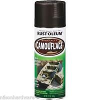 3 Pk 12 Oz Rustoleum Black Nonreflective Flat Camouflage Spray Paint 1916-830