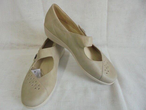 Scarpa Velcro Slipper mezza pelle scarpa Softline by Goldkrone pelle mezza taglia 8,5 (42,5) Larghezza H 57beab