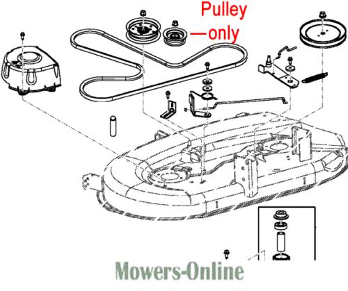 John Deere Deck Idler Pulley GY22172 X105 X110 X120 X125 X140 X145 X165 Tractor