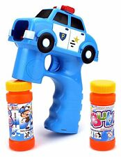 Police Car Light Up Bubble Gun Blaster Shooter with Sirens and Music