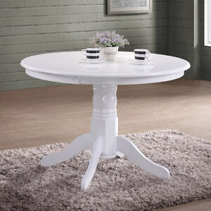 Groovy Details About French Dining Table Shabby Chic Furniture White Round Wooden Small Kitchen Room Interior Design Ideas Oxytryabchikinfo