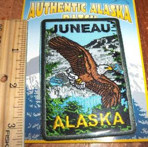 Juneau-Alaska-Bald-Eagle-iron-on-Embroidered-Patch-great-Alaska-Patch