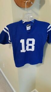 2f6cb4bf9 Image is loading PEYTON-MANNING-INDIANAPOLIS-COLTS-JERSEY -LOGO-ATHLETIC-SIZE-