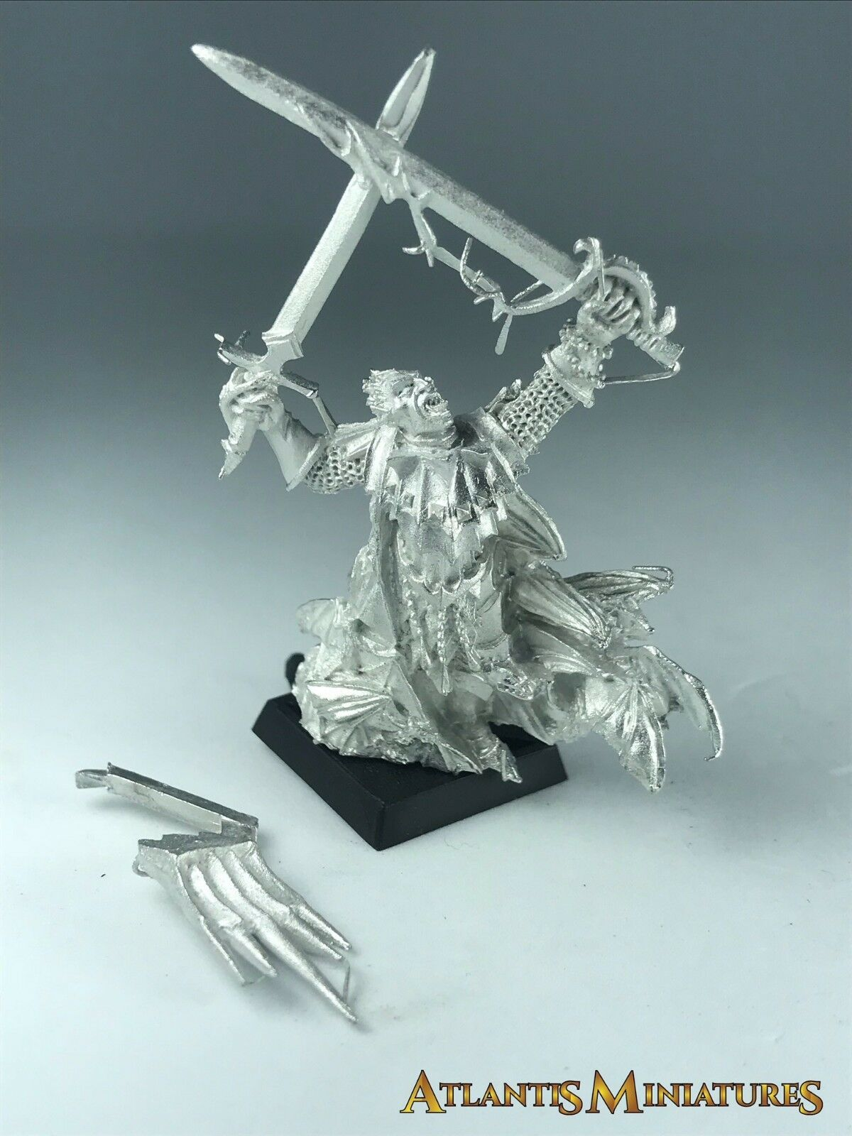 Metal Lord Konrad Vampire Counts - Rare - OOP - Warhammer Age of Sigmar X374