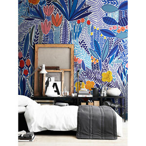 High quality repositionable removeable self-adhesive wallpaper abstract colorful pattern