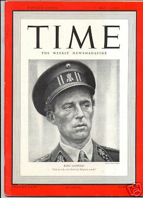 MAGAZINE TIME  King Leopold III  MAY 20  1940