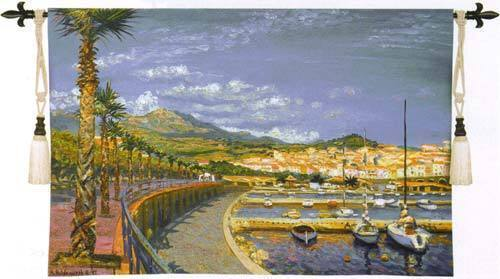 Porto Mer Nautical Tapestry Wall Hanging - Harbour View