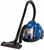 BISSELL Bagless Canister Vacuum Vacume Cleaner Carpet Floor Upholstery Blue -New