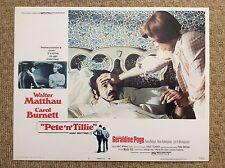 PETE 'N' TILLE Original Lobby Card WALTER MATTHAU CAROL BURNETT GERALDINE PAGE