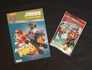 image is loading christmas holiday paw patrol jumbo coloring book amp