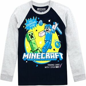 Minecraft-Long-Sleeve-T-Shirt-Boys-Minecraft-Top-Kids-Minecraft-Tee