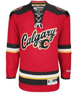 Calgary Flames Alternate Rbk Nhl Premier Jersey 100 Original