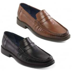 d54dd5737179d Padders BARON Mens Leather Wide (G Fit) Penny Moccasin Loafer Smart ...