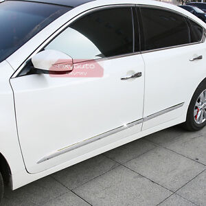 New Chrome Body Door Side Molding Cover Trim For Nissan
