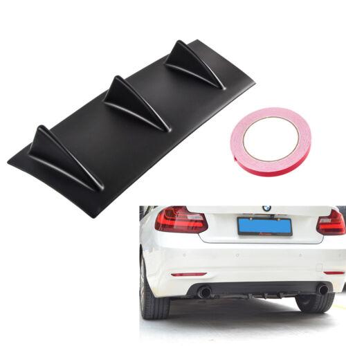 Shark Fin 3//5//7 Wing Lip Diffuser Car Rear Bumper Chassis Chin Spoiler Universal