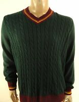 Argyleculture By Russell Simmons $85 Mens Green Casual V-neck Sweater Sz S