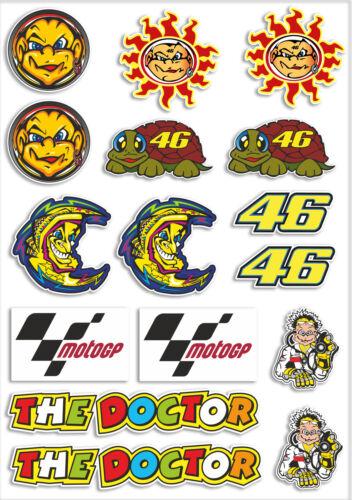 Feuille A4 de stickers motardes ROSSI vinyle stickers autocollant ordinateur portable bombe moto GP # 6153