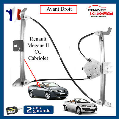 Mécanisme Lève-vitre Droit Renault Mégane 2 modele 3 portes neuf 8200 085 843
