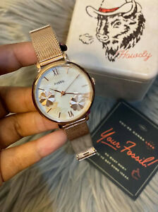 Fossil Jacqueline Three-Hand Rose Gold-Tone Stainless Steel Watch ES4534 36mm