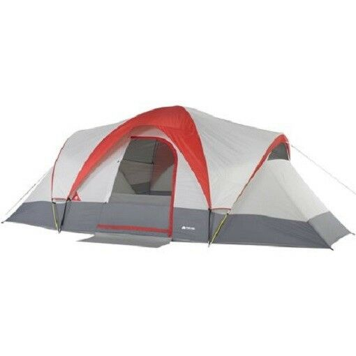 Weatherbuster 9 Person Dome Tent 2 Bonus Queen Airbeds Bundle Camping Hunting