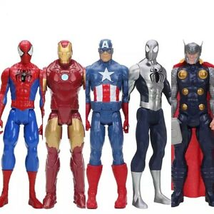 Marvel-Avengers-30cm-Iron-Man-Spiderman-Thor-Action-Figur-Film-Sammlung-Figuren