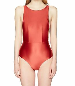 Roxy-Women-039-s-Swimwear-Red-Size-Small-S-Shiny-Love-One-Piece-Swimsuit-80-618
