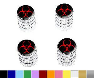 Zombie-Outbreak-Red-Biohazard-Wheel-Tire-Rim-Valve-Stem-Caps-Colors