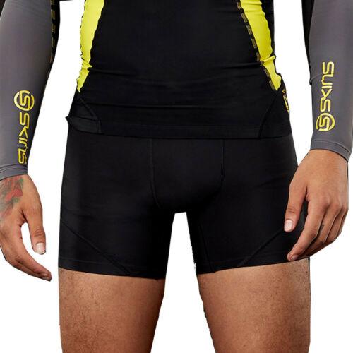 Skins Homme dnamic Compression Short Pantalon Pantalon Noir Argent Sports