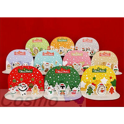 10pcs Christmas Cards Gift card Adult Kids Pack Family Xmas Greeting Cards