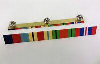 WW11 Medal Ribbon Bar,39-45 Star,Africa Star,Defence,War Medal 4 Space Full Size