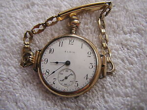 2f414ae9a Antique Elgin Ladies Women's Pocket Watch Converted To Wristwatch ...