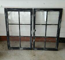 vintage sash antique wood window picture frame pinterest distressed black set 2