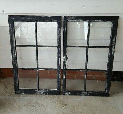 VINTAGE SASH ANTIQUE WOOD WINDOW PICTURE FRAME PINTEREST  DISTRESSED BLACK