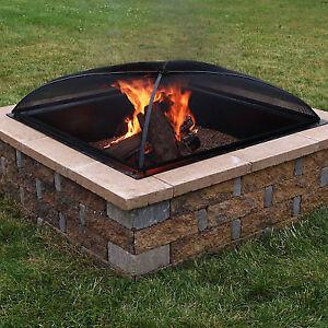 Sunnydaze 36 Inch Square Fire Pit Spark Screen For Sale Online Ebay