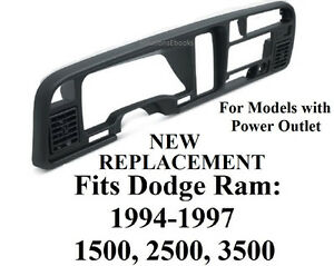 Image Is Loading Dodge Ram Dash Bezel Radio Dashboard Instrument Cer