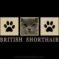 British Shorthair Cat Portrait T-shirt Tee - Men Women's Youth Tank Short Long
