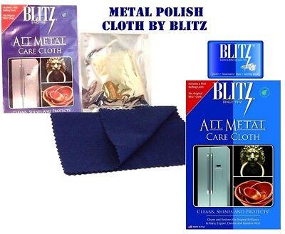 Blitz Metal Care Non-Lacquered Metal Polishing Cloth