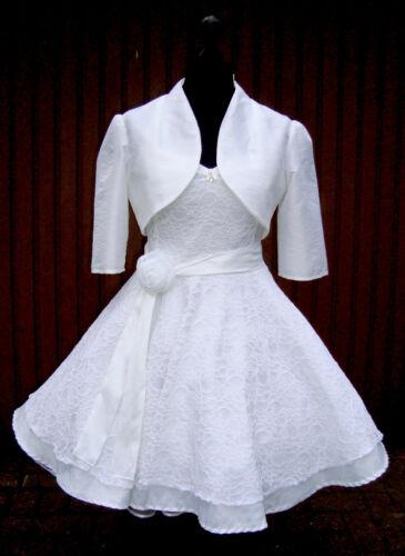 50er Petticoat  Rockabilly Braut Hochzeits Abiball Standesamt Kleid Dress Spitze