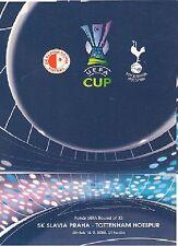 Slavia Praha v Tottenham (Espuelas) 2007-08 programa de Copa UEFA