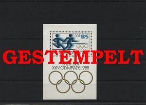 Germany-GDR-DDR-R-d-a-Vintage-1988-Mi-Bloc-94-Timbres-Used-Plus-Sh-Boutique