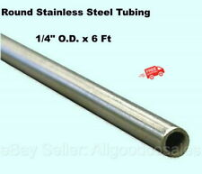 Round Tubing 304 Stainless Steel 14 Od X 6 Ft Welded 0194 Inside Dia