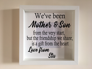 Ikea Ribba Box Frame Personalised Vinyl Wall Art Quote Weve Been